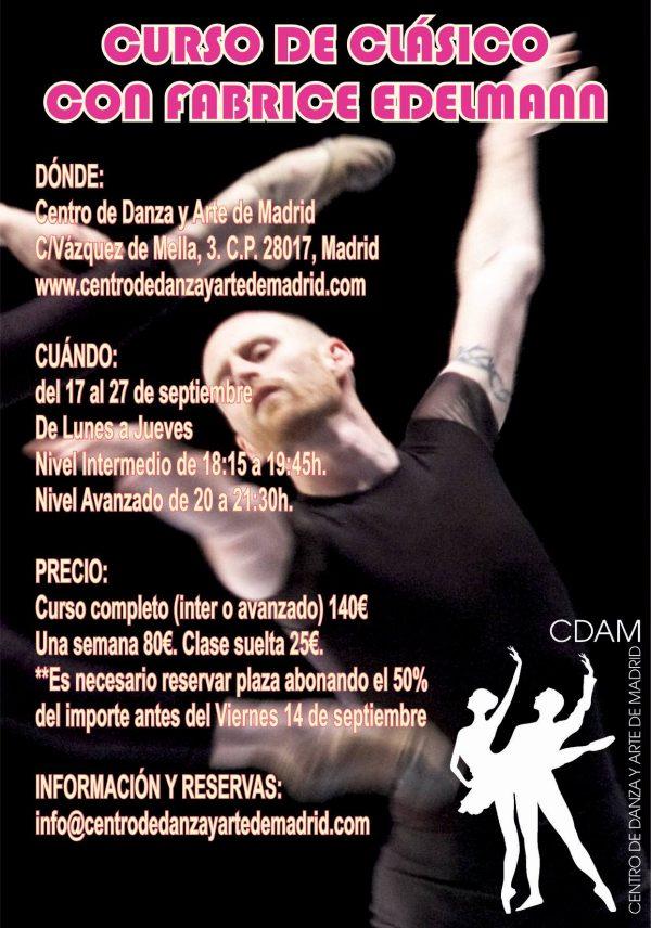Curso Ballet Clasico Con Fabrice Edelman